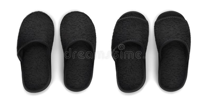 Deslizadores macios pretos fotografia de stock