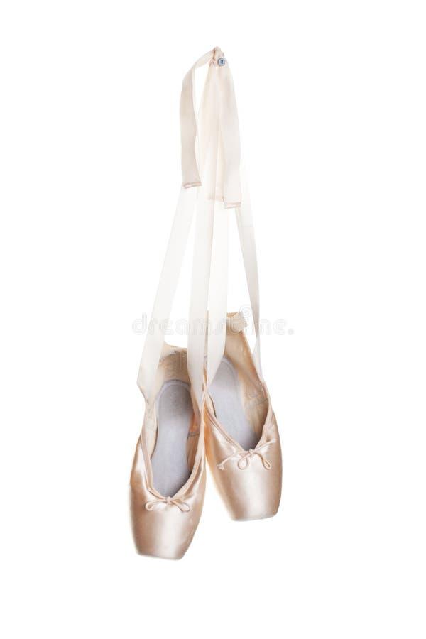 Deslizadores rosados del ballet imagenes de archivo