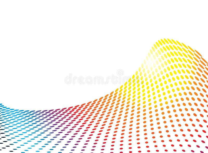 Deslize da onda do arco-íris ilustração royalty free