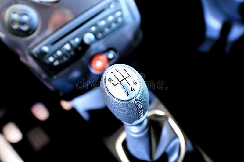 Deslocador da engrenagem de Sportscar foto de stock