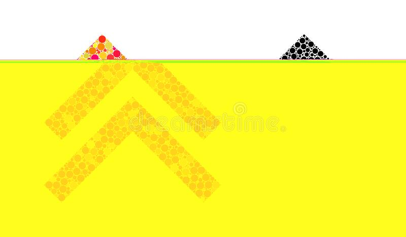 Deslocamento do pixel acima dos ícones do mosaico ilustração stock