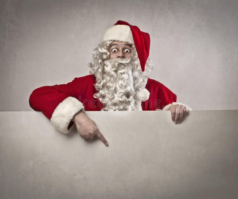 Deslocamento predeterminado de Papai Noel imagem de stock