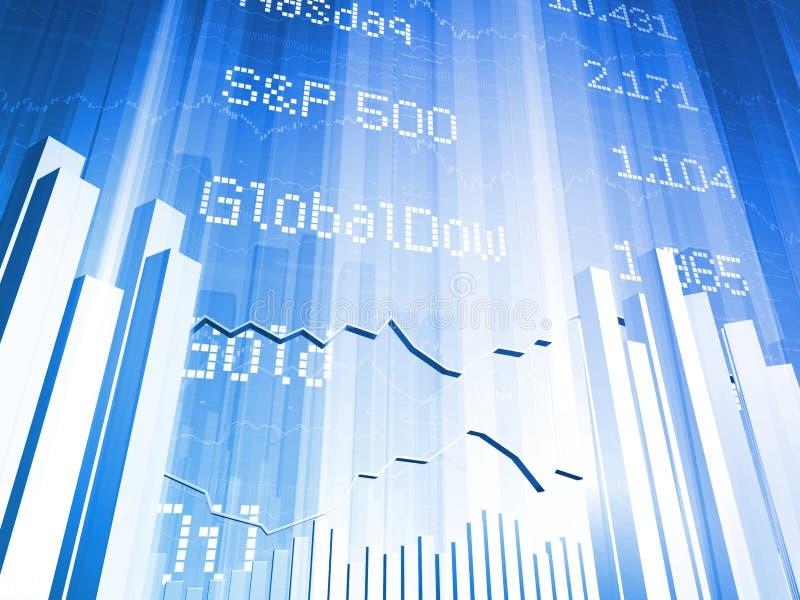 Deslocamento predeterminado do mercado de valores de acção grande ilustração stock