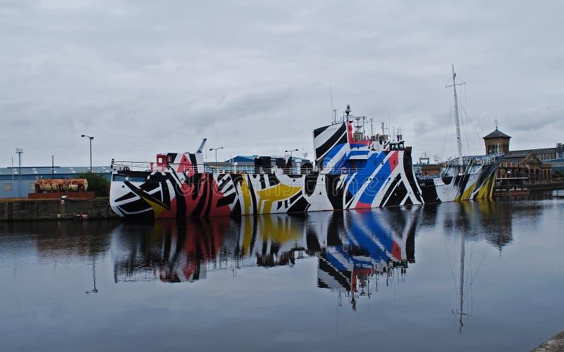 Deslumbre la nave del camoflage fotografía de archivo libre de regalías
