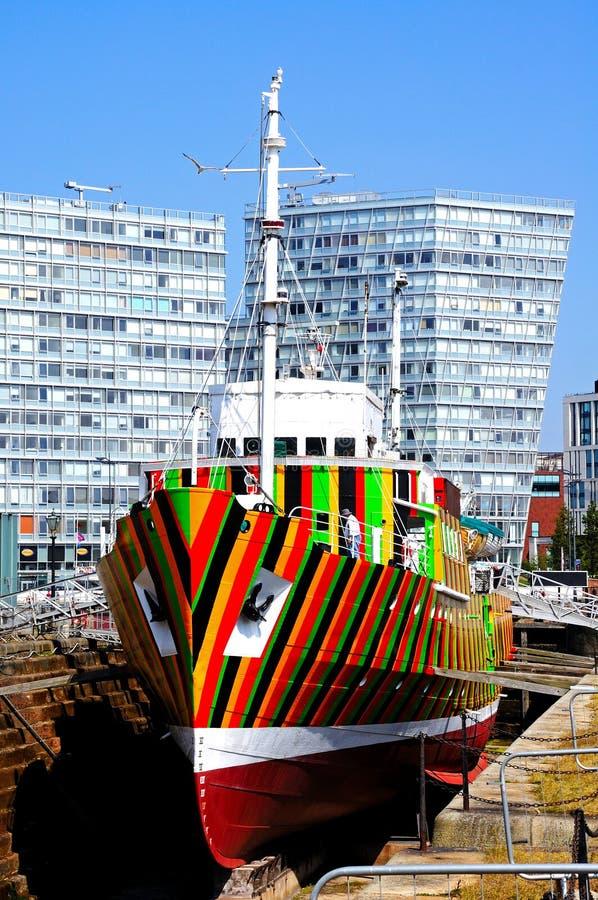 Deslumbre la nave, Liverpool imagenes de archivo