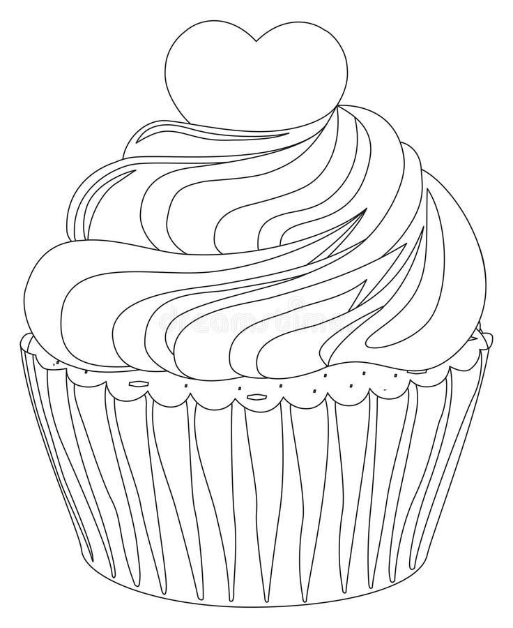 Desmoche blanco y negro del corazón del cartel de la magdalena ilustración del vector