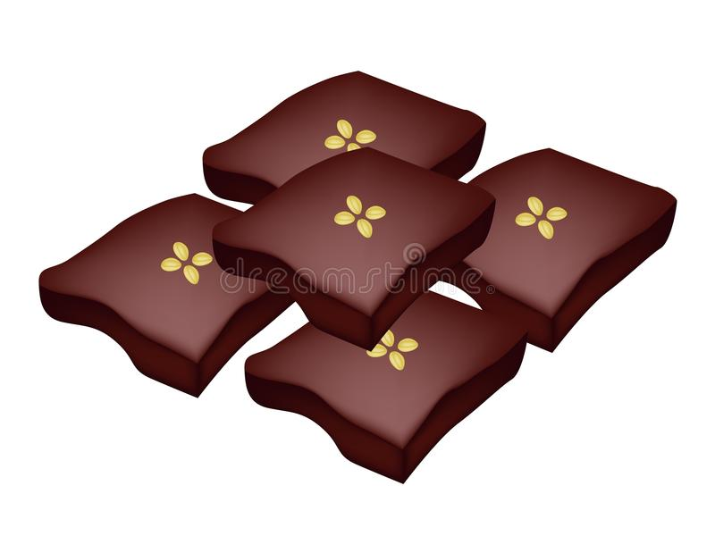 Download Desmoche Tailandés Del Caramelo Con Las Habas De Mung De La Fractura Ilustración del Vector - Ilustración de harina, pudín: 41920815