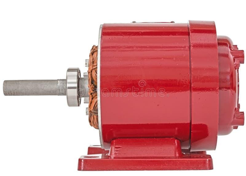 Desmontado do motor elétrico, isolado no fundo branco imagem de stock