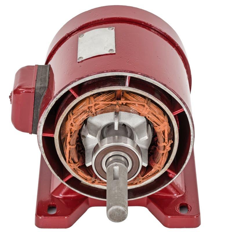 Desmontado do motor elétrico, isolado no fundo branco fotografia de stock