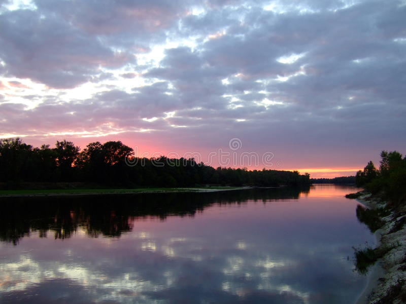 Desna flod fotografering för bildbyråer