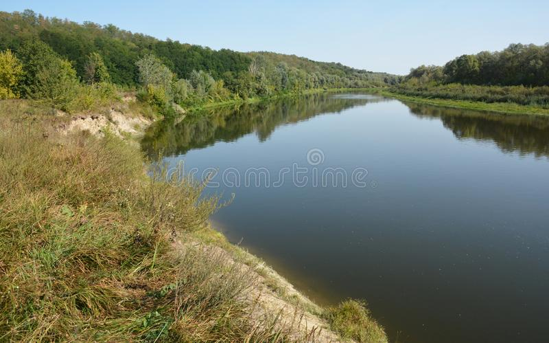 Desna river is a left tributary of the Dnieper river in northern Ukraine. Photo royalty free stock photography