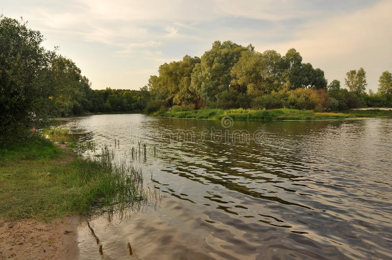 On Desna river royalty free stock photo