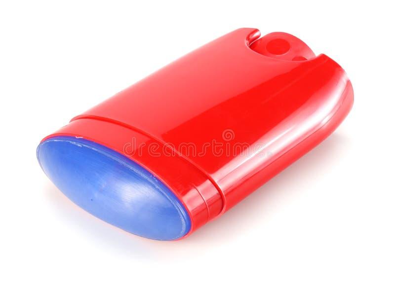 desodorante del hombre rojo aislado en el fondo blanco foto de archivo libre de regalías