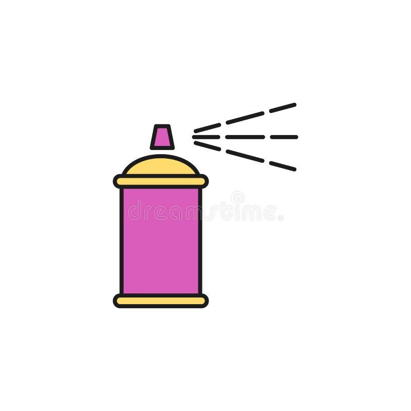 desodorierendes Mittel farbige Ikone Element der Geburtstagsfeierikone für bewegliche Konzept und Netz apps Farbige Ikone des des vektor abbildung