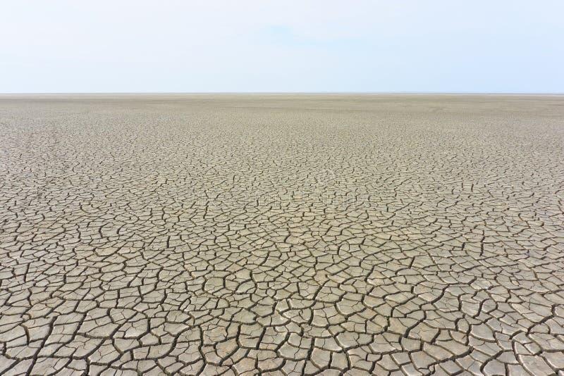Desolate ландшафт с треснутой землей стоковая фотография rf