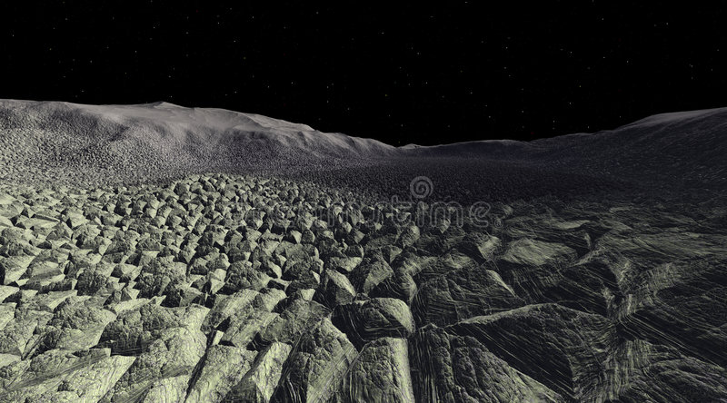 Download Desolate Asteroid Rockfield Stock Photography - Image: 2301582