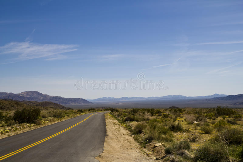 Download Desolate Desert Road 01 stock photo. Image of alone, park - 15378936