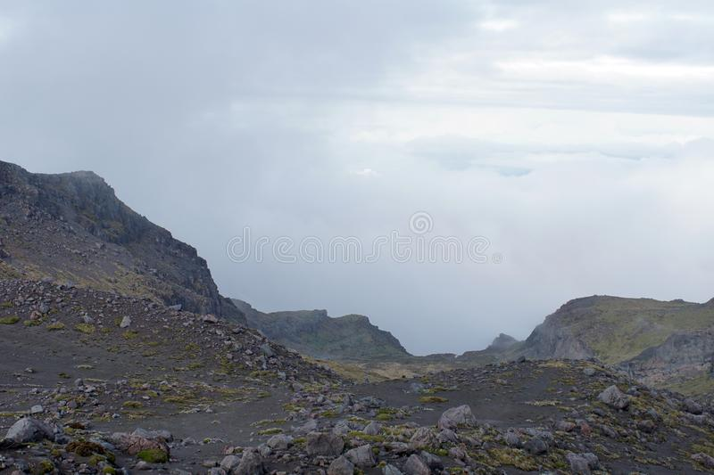 Desolate landscape on Cayambe Volcano. Ecuador stock photography
