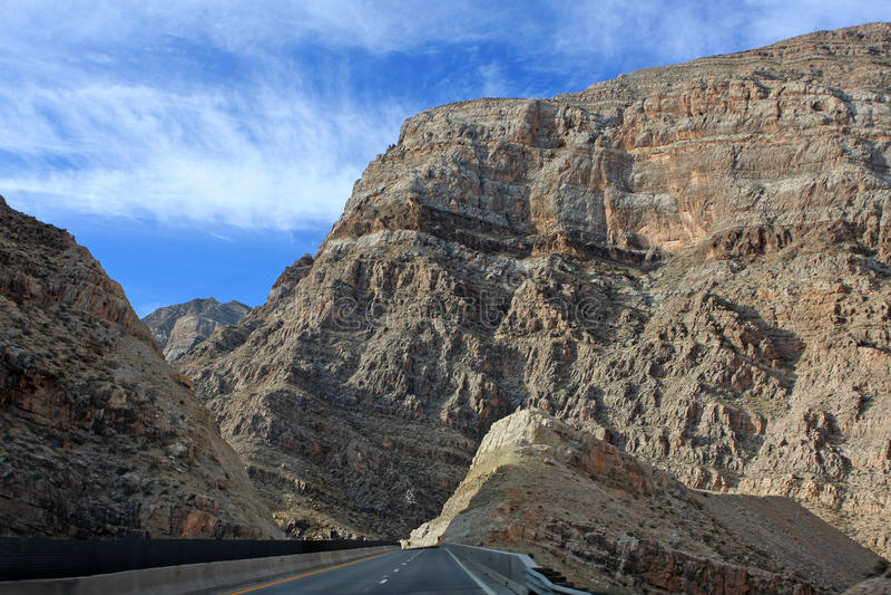 Download Desolate Road Through Desert Mountains Stock Photo - Image: 12033888