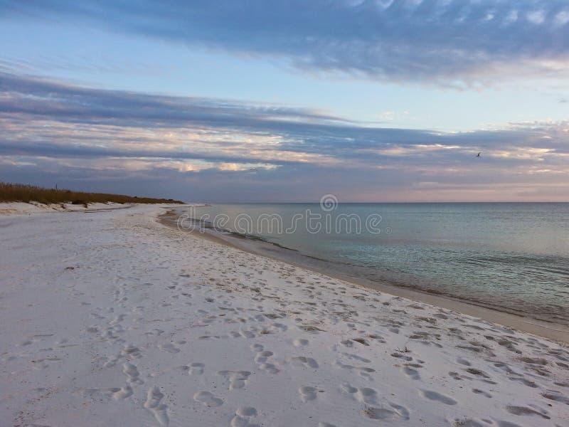 Desolate Turtle Beach on Florida`s Gulf coast royalty free stock image