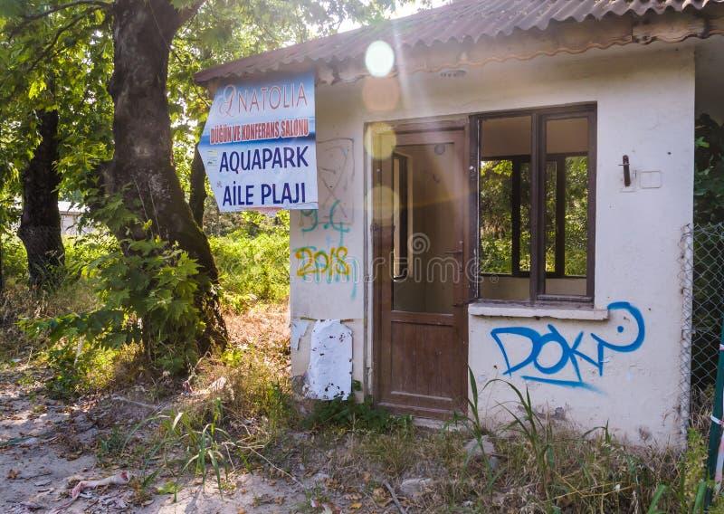 Desolated παλαιό κτήριο ιστορίας - Τουρκία στοκ εικόνες με δικαίωμα ελεύθερης χρήσης