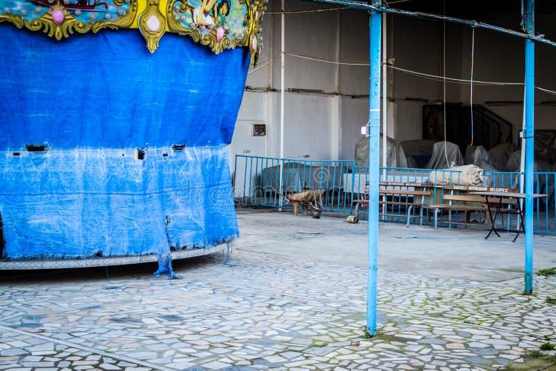 Desolated Carnaval en Eerlijk Gebied stock foto