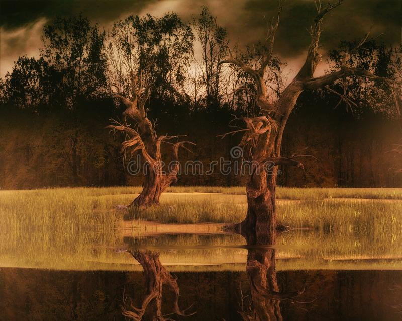 Desolated natury scena royalty ilustracja