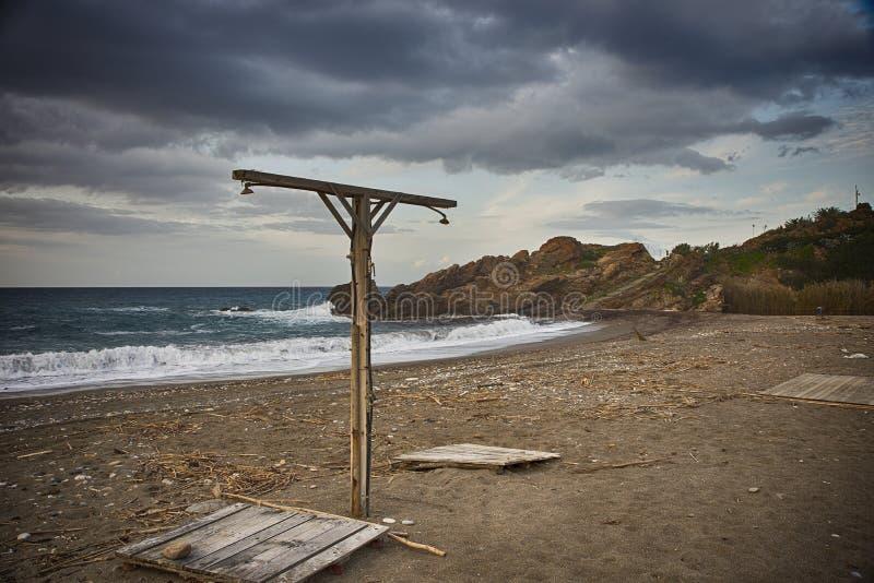 Desolated plaża wydaje się jak miejsce tortune! obrazy royalty free