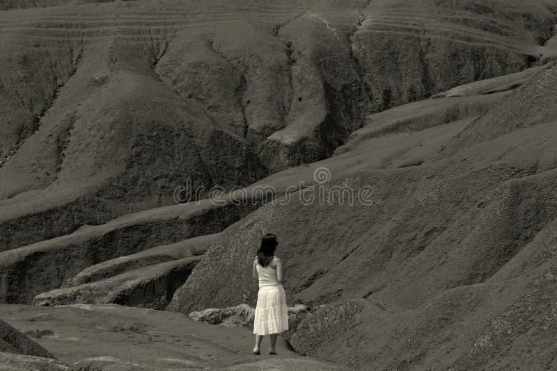 Download Desolation stock image. Image of girl, white, landscape - 2677527