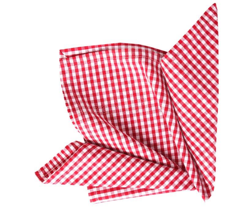 Desoration piegato panno di picnic isolato fotografia stock