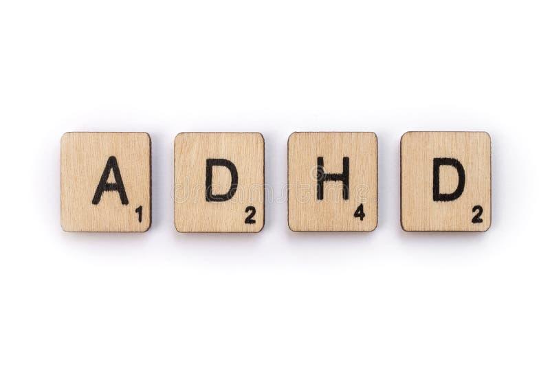 Desorden de la hiperactividad del déficit de atención fotografía de archivo