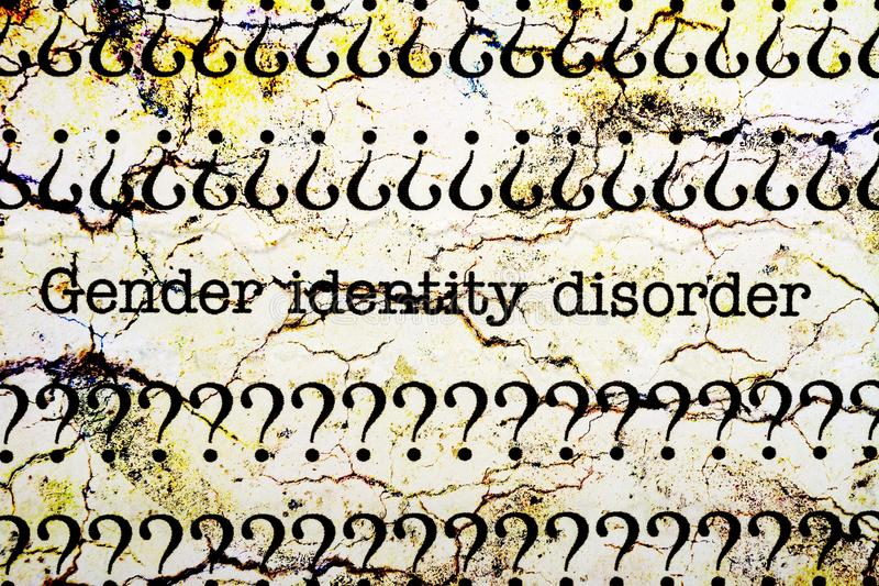 Desorden de la identidad del género foto de archivo