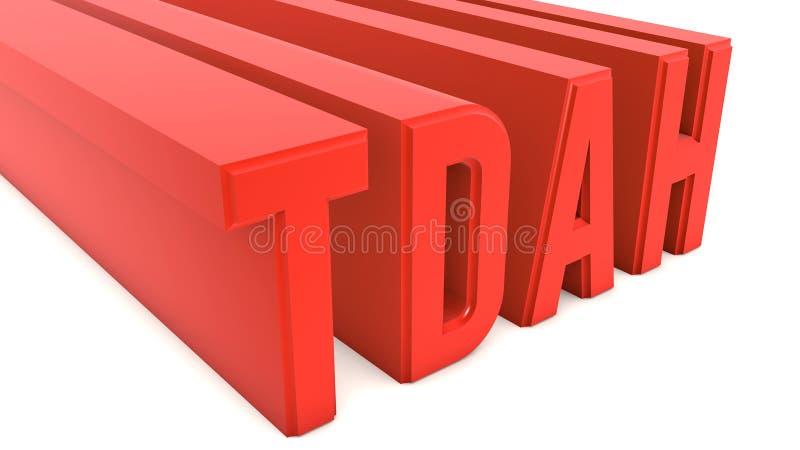 Desorden de TDAH ilustración del vector