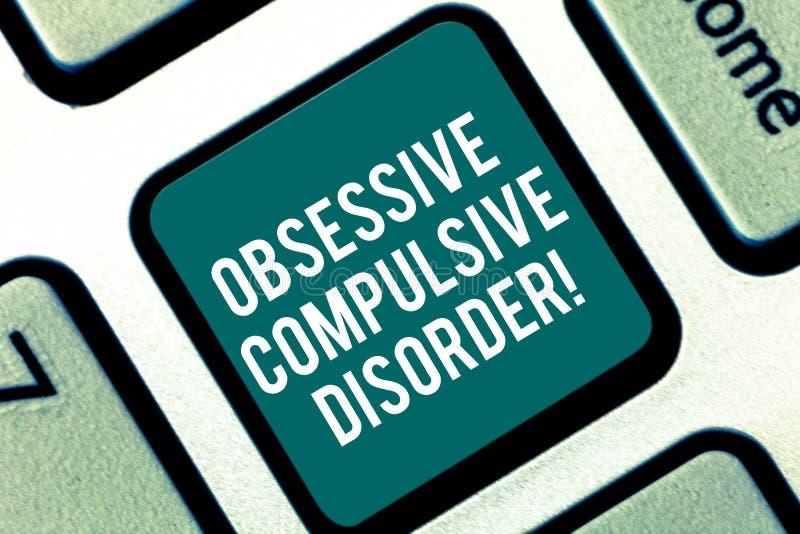 Desorden obsesivo del texto de la escritura La persona del significado del concepto tiene teclado incontrolable de los pensamient ilustración del vector