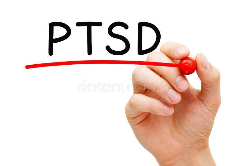 Desorden traumático de la tensión del poste de PTSD imagenes de archivo