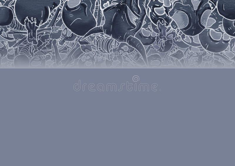 Download Desossa o fundo do crânio ilustração stock. Ilustração de gráfico - 80101301