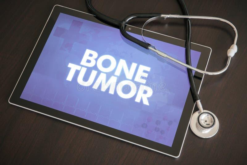 Desosse o conceito médico do diagnóstico do tumor (tipo do câncer) no SCR da tabuleta imagens de stock
