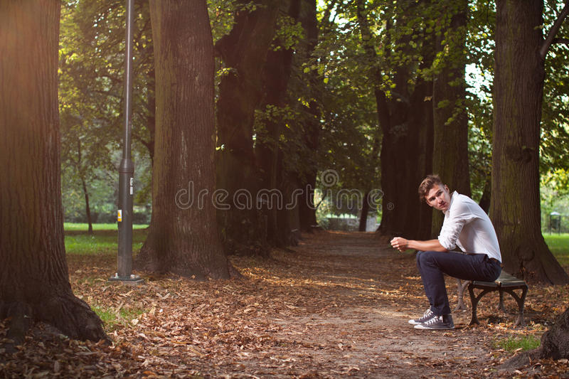 Download Despair Man In The Park Stock Images - Image: 20966254