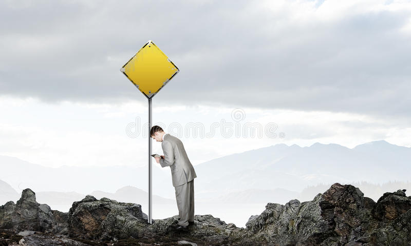 Despaired to succeed stock image
