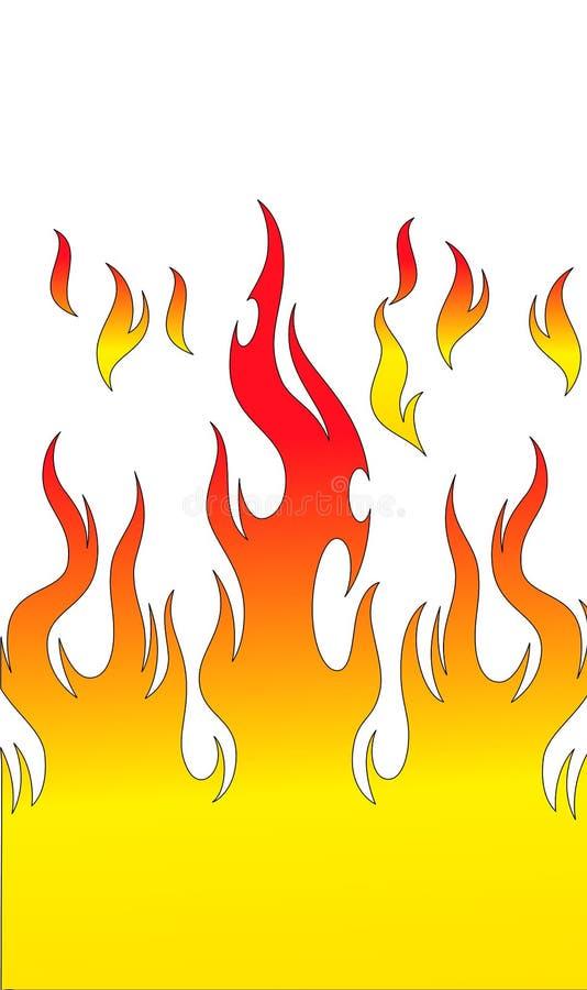 Despeça a flama ilustração stock