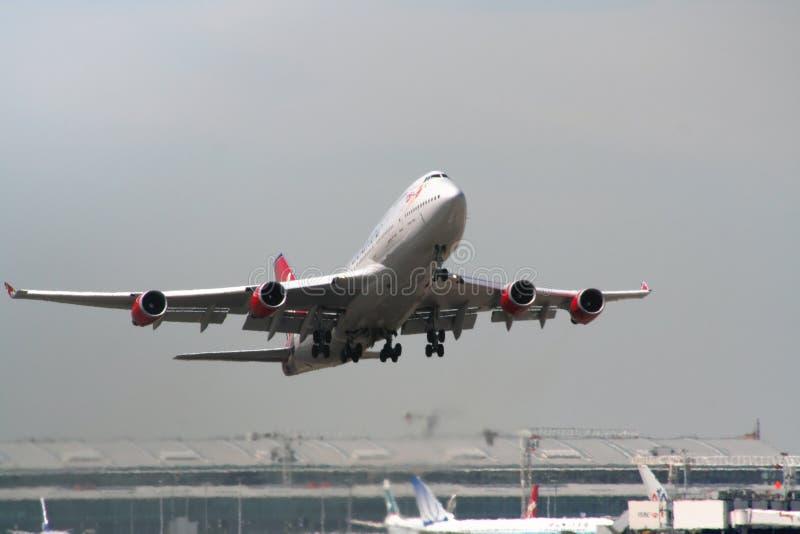Despegue 2 de los aviones imagen de archivo