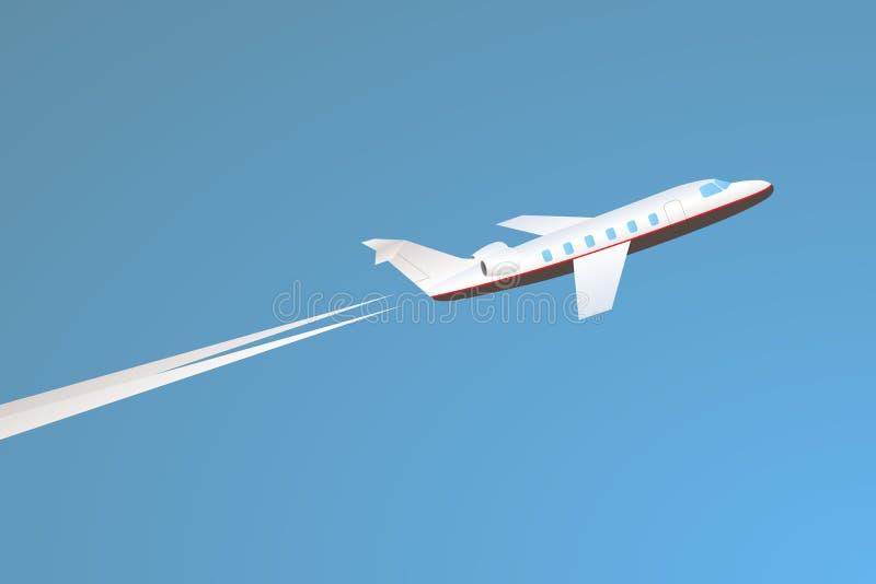 Despegue privado del jet imagenes de archivo