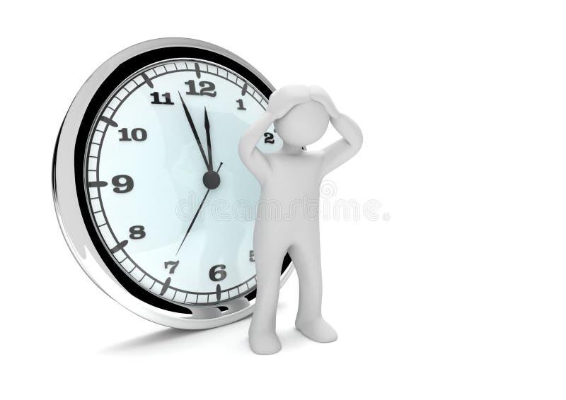 Desperacki Manikin zegar ilustracji