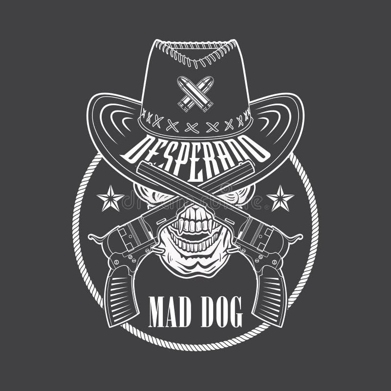 Desperado cowboy emblem stock vector. Illustration of ...