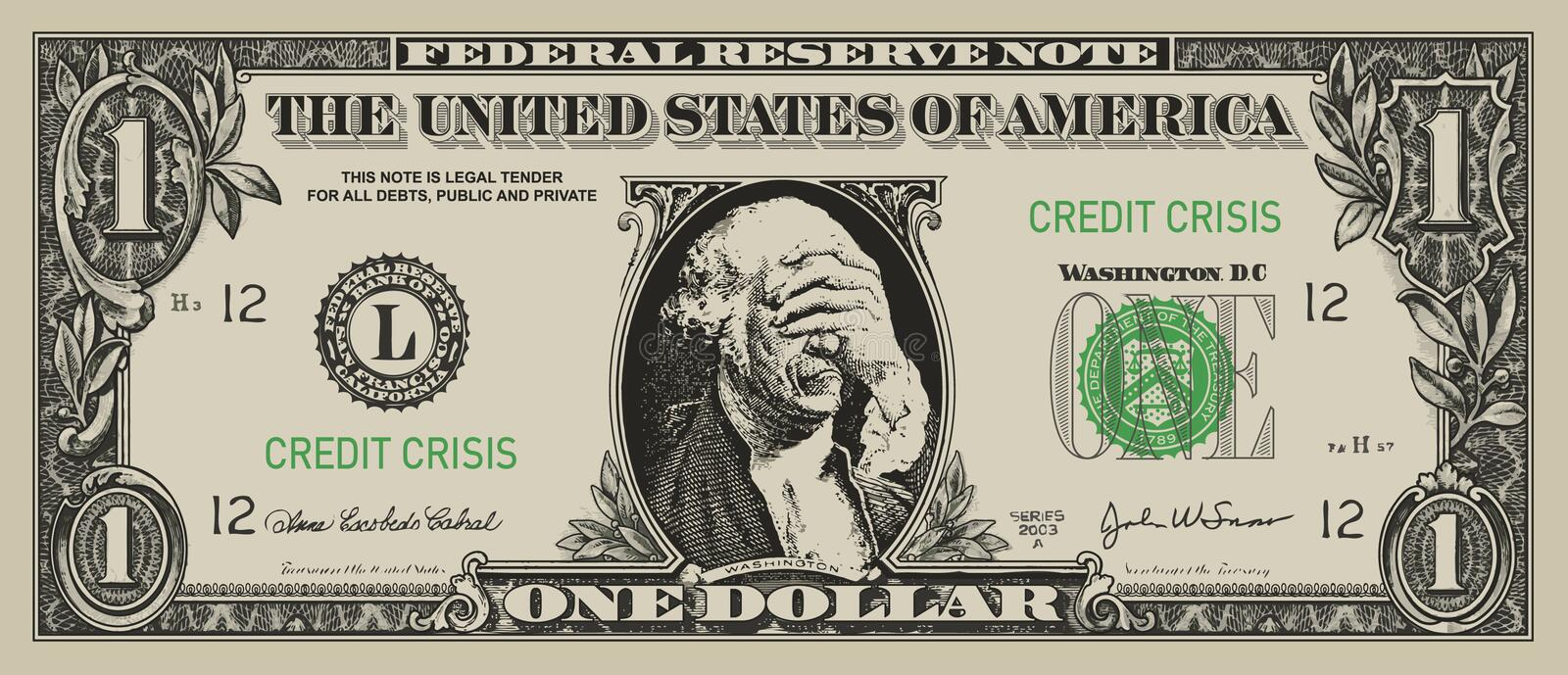desperat dollar royaltyfri illustrationer