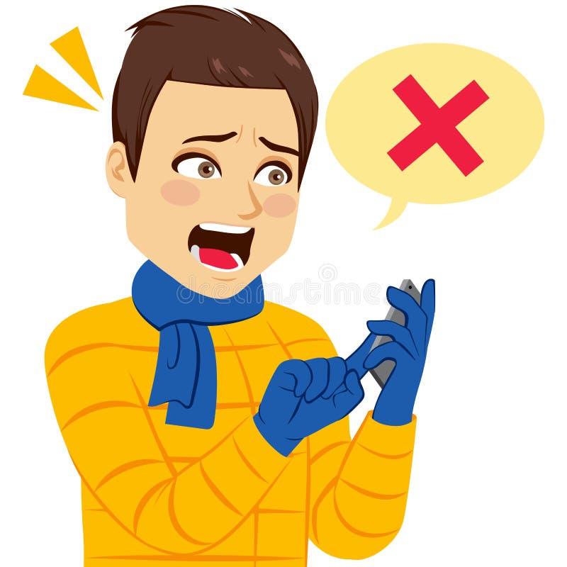 Desperat mantelefonhandlag vektor illustrationer