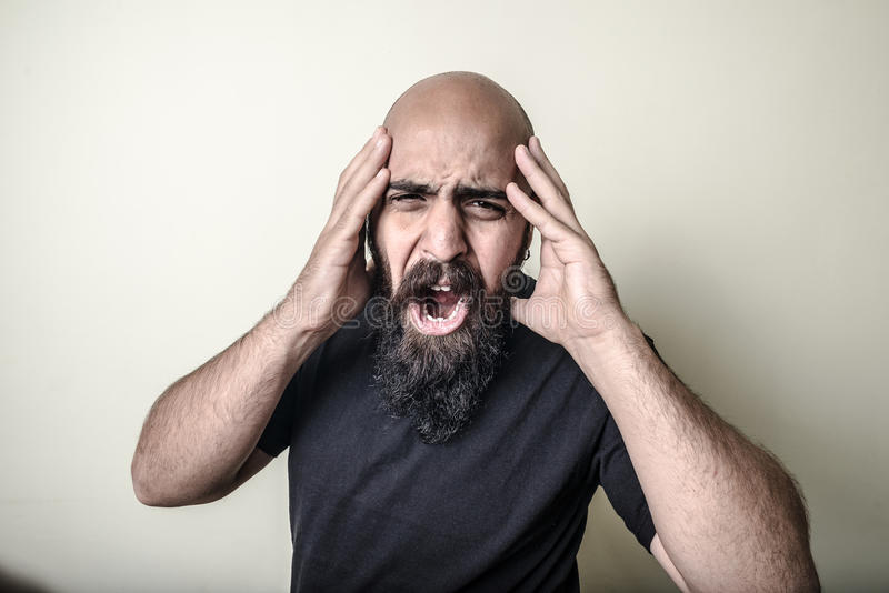 Download Desperate bearded man stock image. Image of fearful, desperate - 31898237