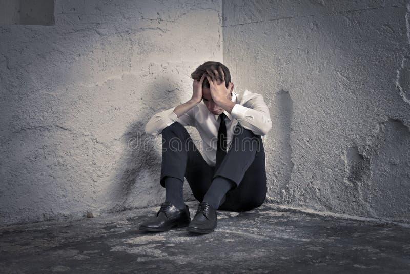 Download Desperate Businessman stock image. Image of sitting, desolation - 27777409