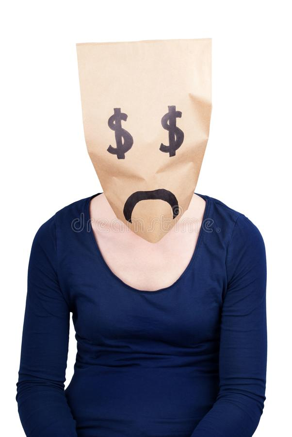 Download A Desperate Dollar Paper Bag Stock Photo - Image of drop, fear: 31757310