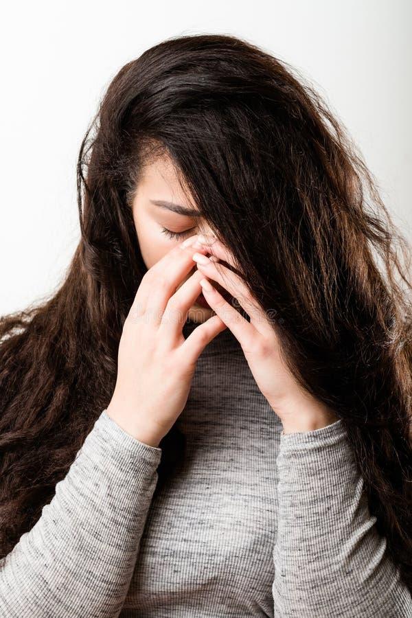 Free Desperate Hopeless Lonely Upset Emotional Girl Stock Image - 149048771